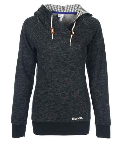 bench ladies hoodies bench bench womens allanshaw heavy hoodie in black lyst