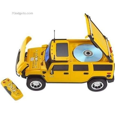 hummer truck shaped clock radio with cd player