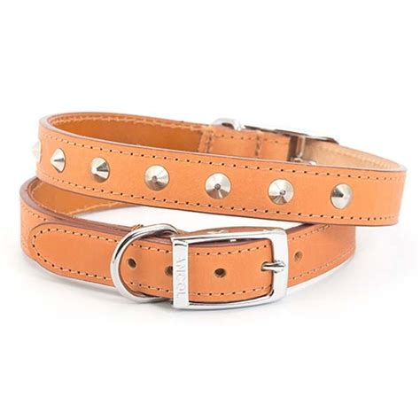 studded leather collars studded leather collar