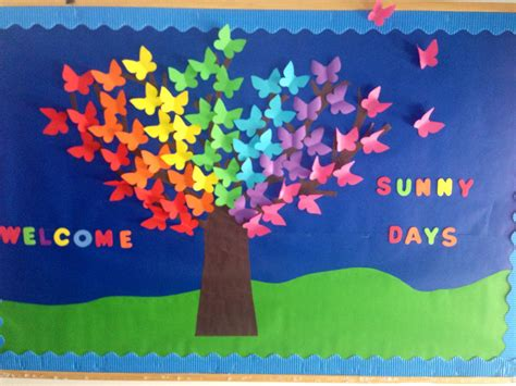 new themes butterfly spring bulletin boards kindergarten of cambridge school