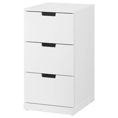 ikea tiroirs de rangement nordli commode 3 tiroirs blanc 40 x 76 cm ikea