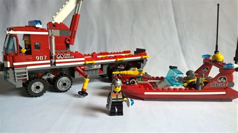 lego boat rescue lego toy review unboxing lego fire rescue ladder truck