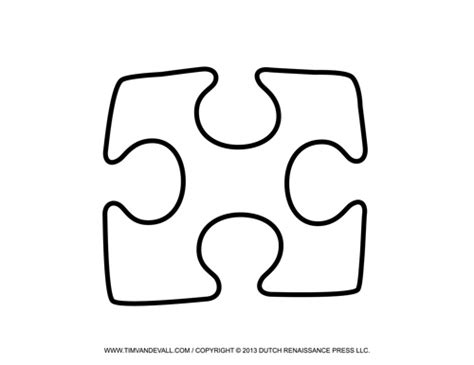 Single Puzzle Template tim de vall comics printables for