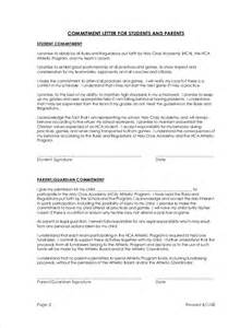 Letter Of Commitment Template by Sle Commitment Letter Template 6 Free Documents In