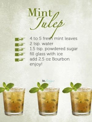 mint julep cocktail mint julep recipe drinks alcoholic pinterest derby