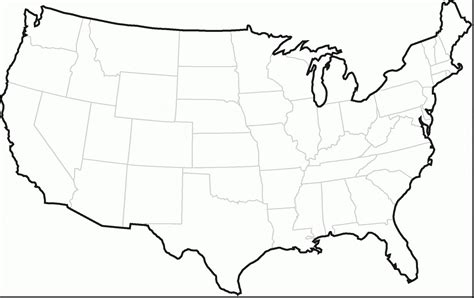 black and white map of the united states new us map states black and white geography outline
