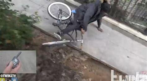 bike seat shock prank oh no electrical shock bait bike prank in the guys