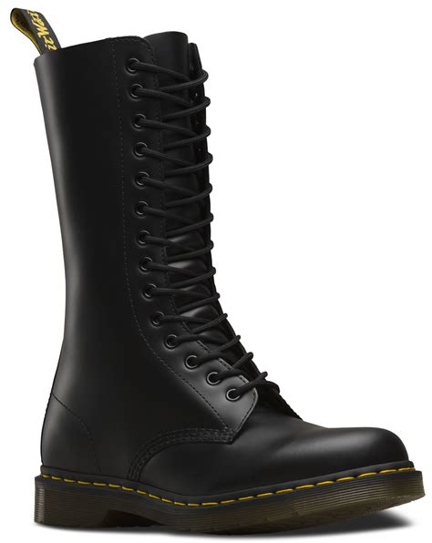 doc marten boots dr martens unisex 1914 smooth leather mid calf 14 eye doc