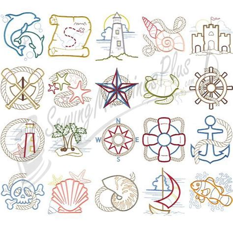 nautical designs dakota collectibles nautical de lite embroidery designs
