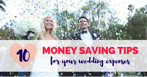 7 Money Saving Tips For Your Wedding by 10 Money Saving Tips For Your Wedding Expenses