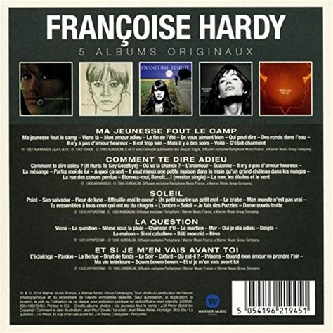 francoise hardy original album series francoise hardy original album series 5cd