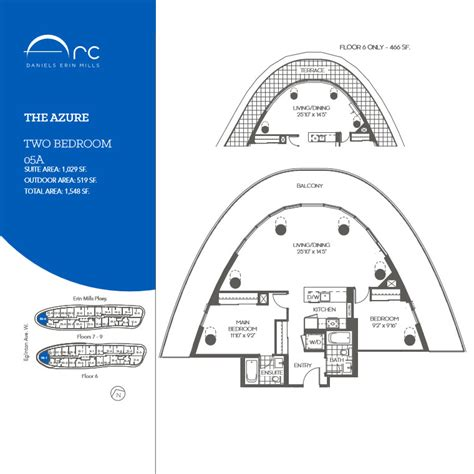 the azure floor plan the azure 2 bedroom floor plan arc condos