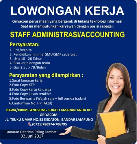 Lowongan Pekerjaan Administrasi lowongan accounting november 2017 2018 loker spot