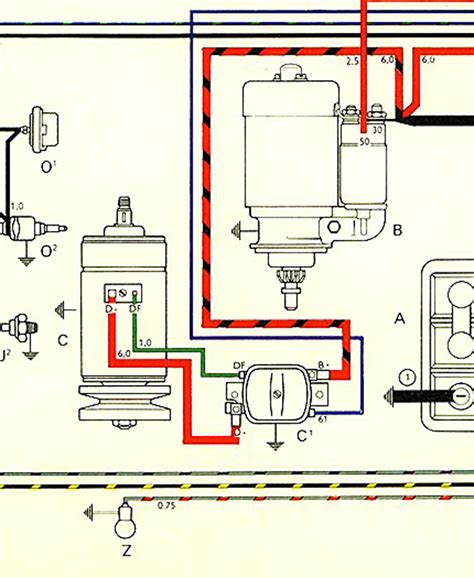 vw beetle generator wiring diagram thesamba gallery auto