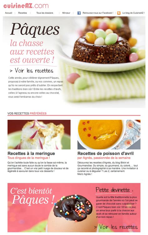 newsletter cuisine galerie de newsletters sur le th 232 me quot quot the mailing book