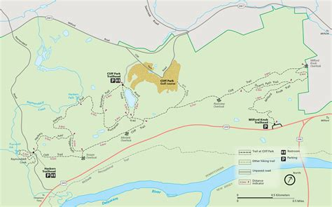 park trail map hiking the cliff park trail system in the delaware water
