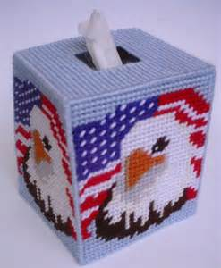 tissue holder pattern free patriotic eagle tissue topper plastic canvas pattern