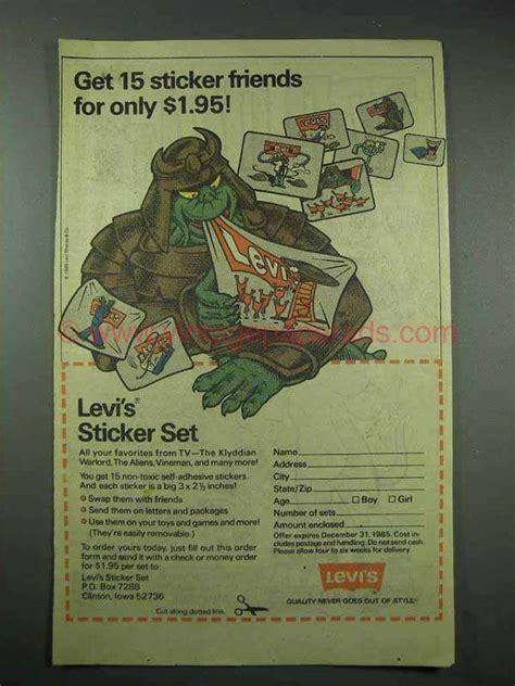 Stiker Levi S 1985 levi s ad get 15 sticker friends
