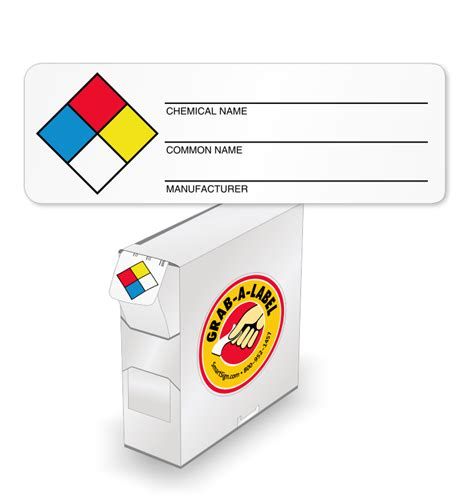 secondary container label template sds labels preprinted and custom msds