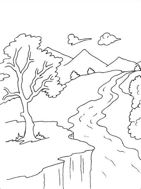 Free Mountain Coloring Pages