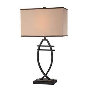 illumine 30 in brown table l with fabric shade cli