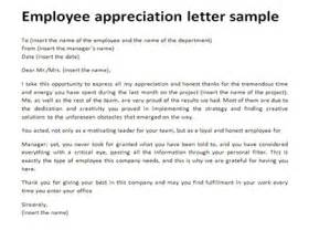Thank You Letter Employees From Employer employee appreciation letter sample just letter templates