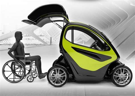 wheelchair smart car equal a compact electric vehicle specially designed for