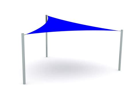 Triangular Awning by Installed Triangular Shade Sail Canopy