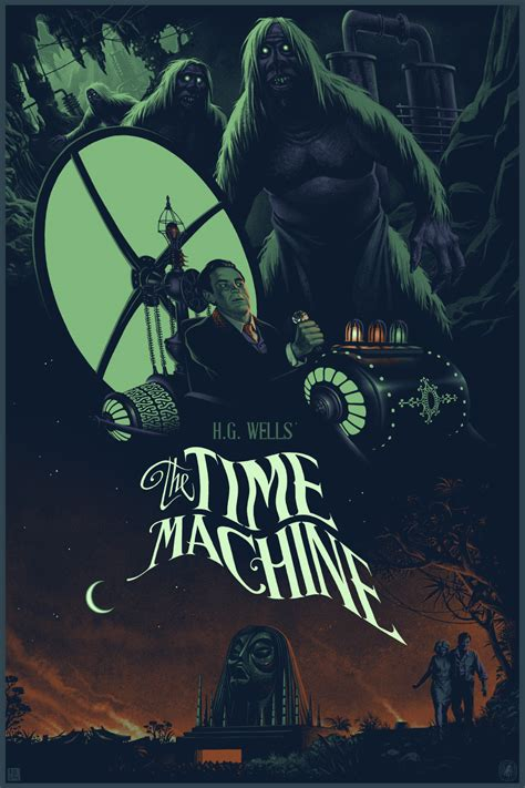 Time Machine Poster inside the rock poster frame julien lois the time machine poster release from