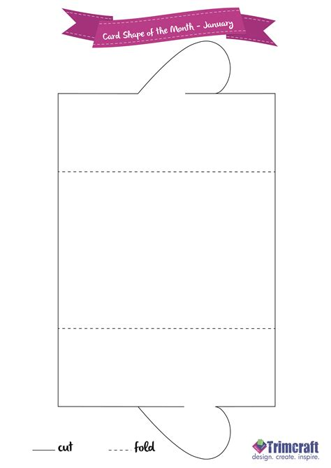 dl gatefold card template card shape of the month gatef the craft