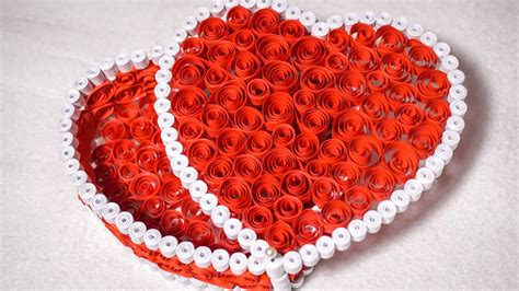 Creative Idea For Home Decoration by Quilling Gift Box Ideas Diy Heart For Valentine