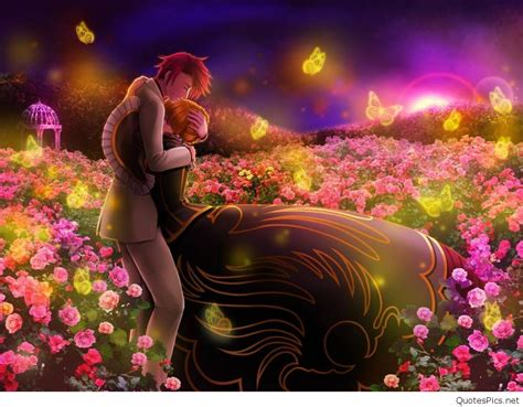 3d wallpaper of love quotes anime love couple wallpapers pics hd