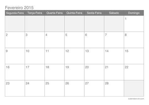 Calendario R 2015 Jornal R 7 170 Calend 193 De Fevereiro 2015 Para Imprimir E