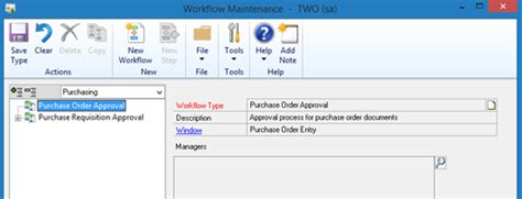 microsoft workflow tools dynamics gp essentials gp 2013 r2 new requisitions workflow