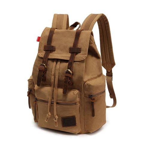 Canvas Travel Backpack vintage canvas leather backpack rucksack gentlemensjoggers