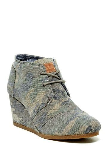 Wedges Yey camo desert wedge bootie by toms on hautelook my style