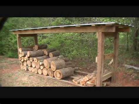 firewood shedwmv youtube