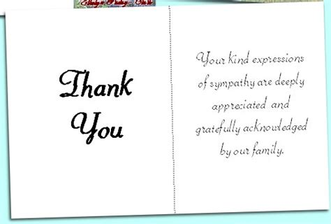 thank you letters after a funeral acknowledgement cards
