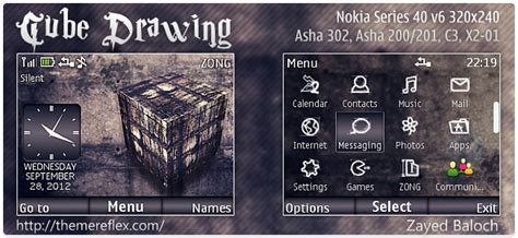 rasta themes for nokia asha 201 cube drawing theme for nokia asha 302 c3 00 x2 01 asha