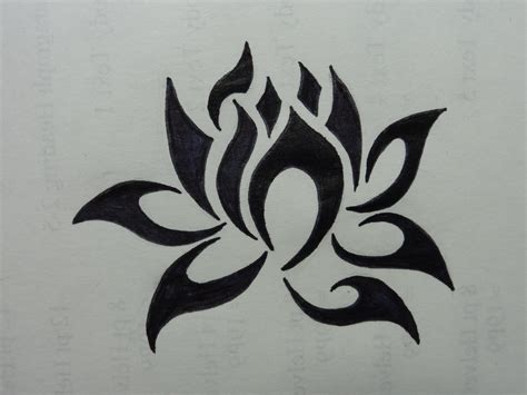 tribal lotus tattoo designs jessicalichung just another site