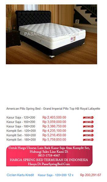 Harga American jual american pillo harga bed termurah di indonesia