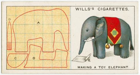 the pattern works carmi s art life world cigarette card elephant yes the
