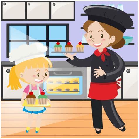 mama e hija cocinando madre e hija cocinando descargar vectores gratis