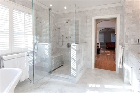 luxury showers luxury shower with sprays and frameless glass marble master bath chatham traditional