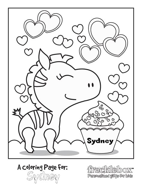 free personalized kids coloring pages saving with shellie