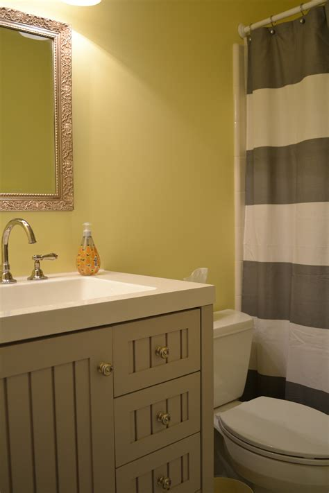 bathroom yellow and gray bathroom then yellow and gray