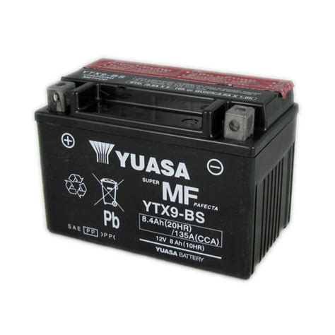 Motorrad Batterie Adapter by Yuasa Motorcycle Battery Ytx9 Bs 12v 8 0ah From County