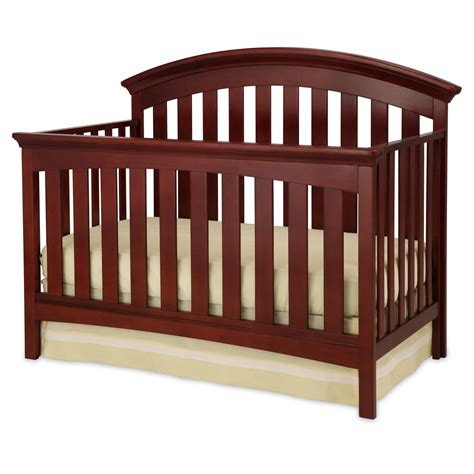 Crib Parts by Delta Children Peyton 4 In 1 Convertible Crib Cabernet