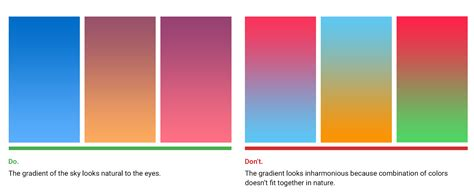 two colors that work well together the secret of great gradient ux planet