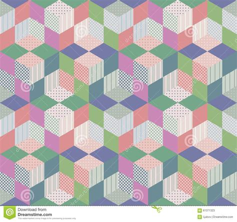 Geometric Patchwork Patterns - seamless geometric patchwork pattern stock vector image